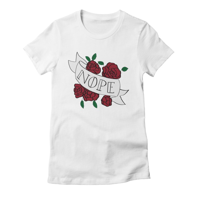Nope Women's Fitted T-Shirt by Hello Siyi