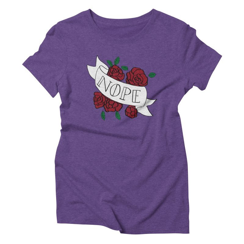 Nope Women's Triblend T-Shirt by Hello Siyi