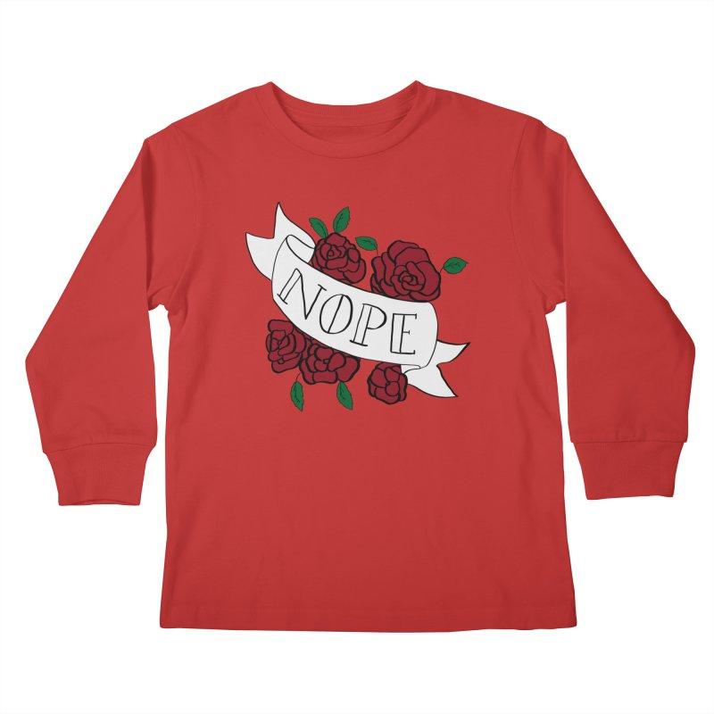 Nope Kids Longsleeve T-Shirt by Hello Siyi