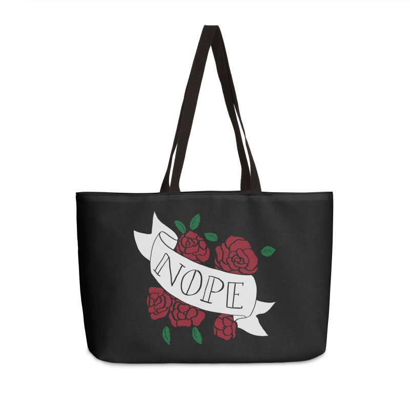 Nope Accessories Weekender Bag Bag by Hello Siyi