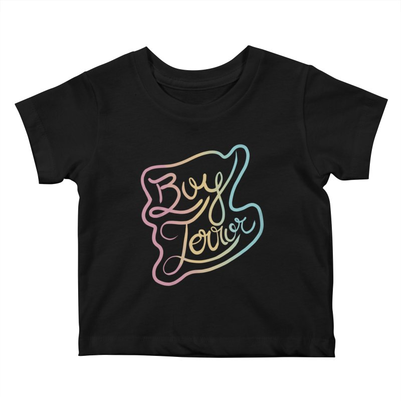 Boy Terror Kids Baby T-Shirt by Hello Siyi