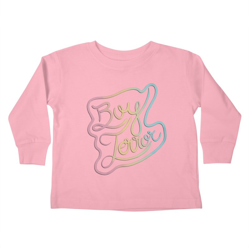 Boy Terror Kids Toddler Longsleeve T-Shirt by Hello Siyi