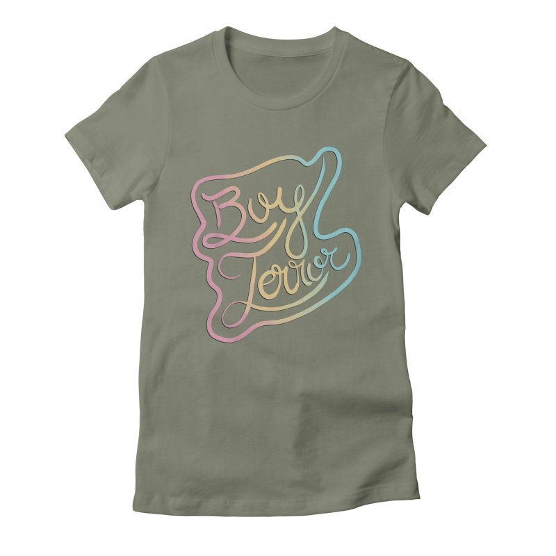 Boy Terror Women's Fitted T-Shirt by Hello Siyi