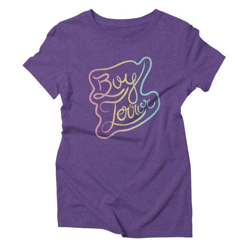Boy Terror Women's Triblend T-Shirt by Hello Siyi