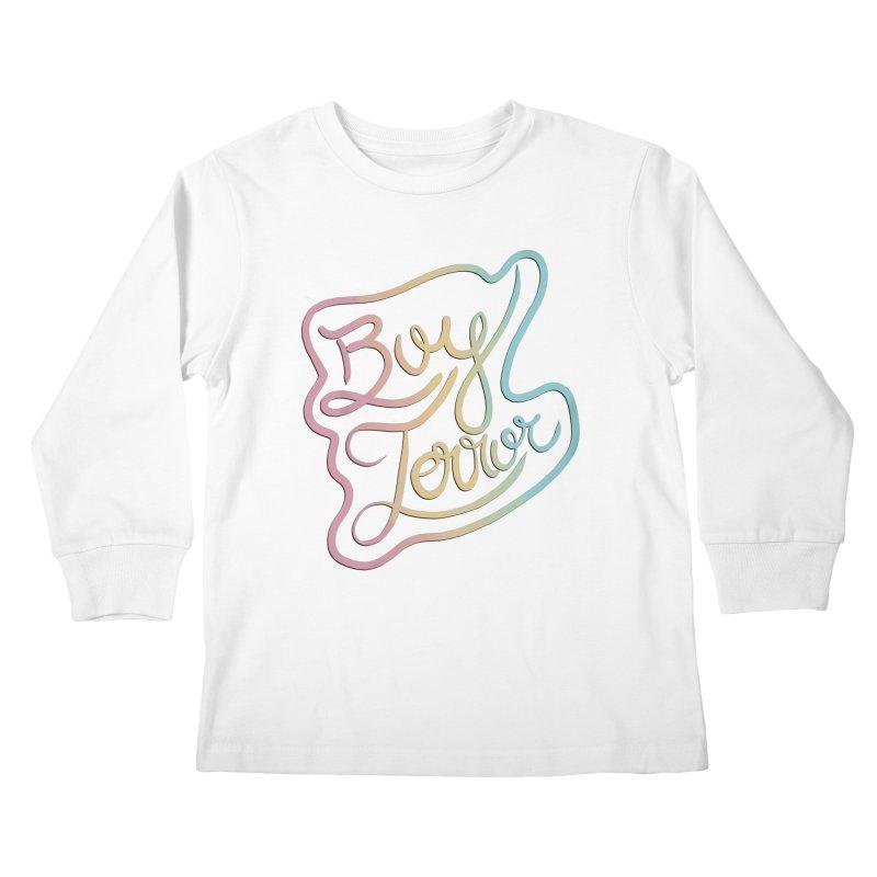 Boy Terror Kids Longsleeve T-Shirt by Hello Siyi