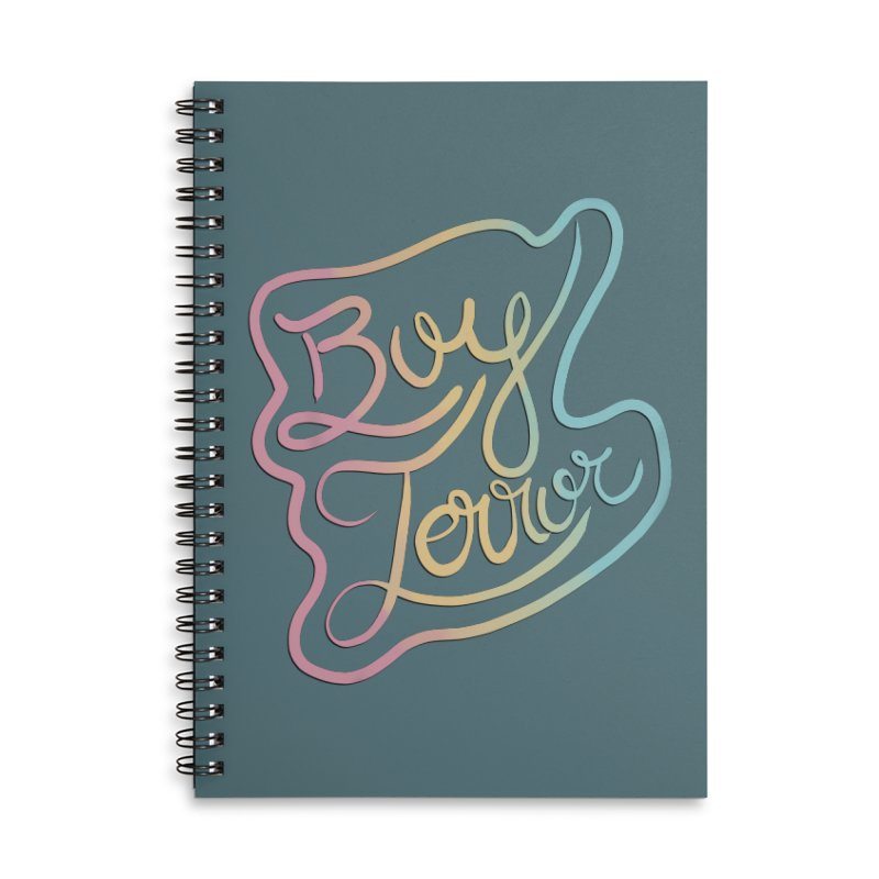 Boy Terror Accessories Lined Spiral Notebook by Hello Siyi