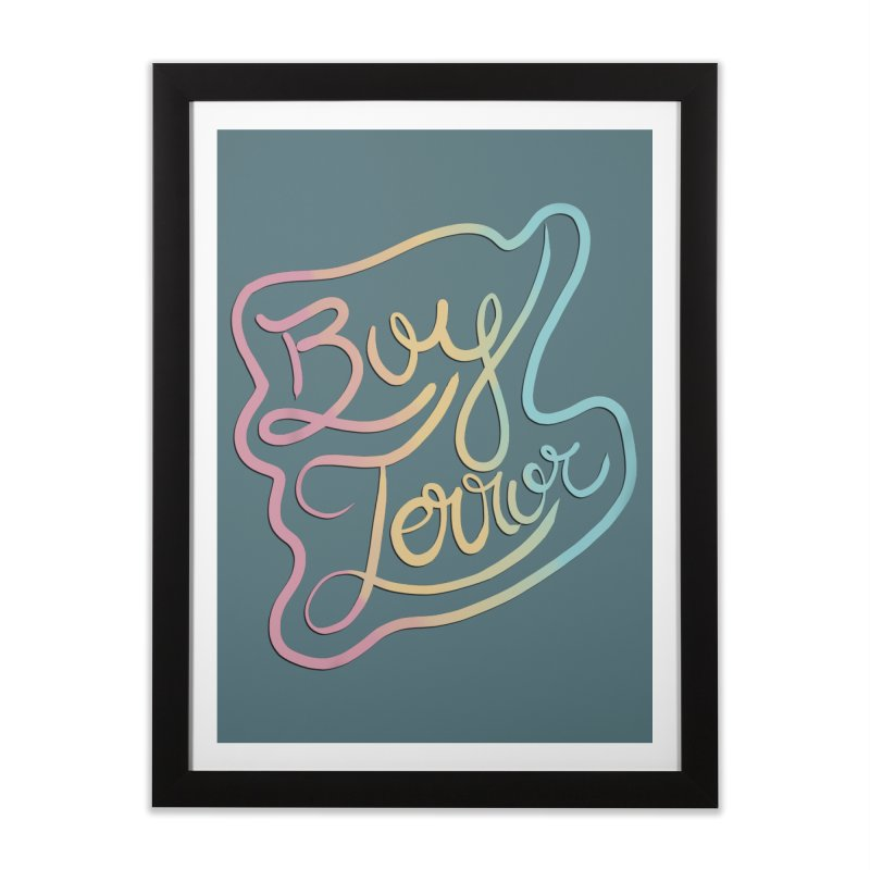 Boy Terror Home Framed Fine Art Print by Hello Siyi
