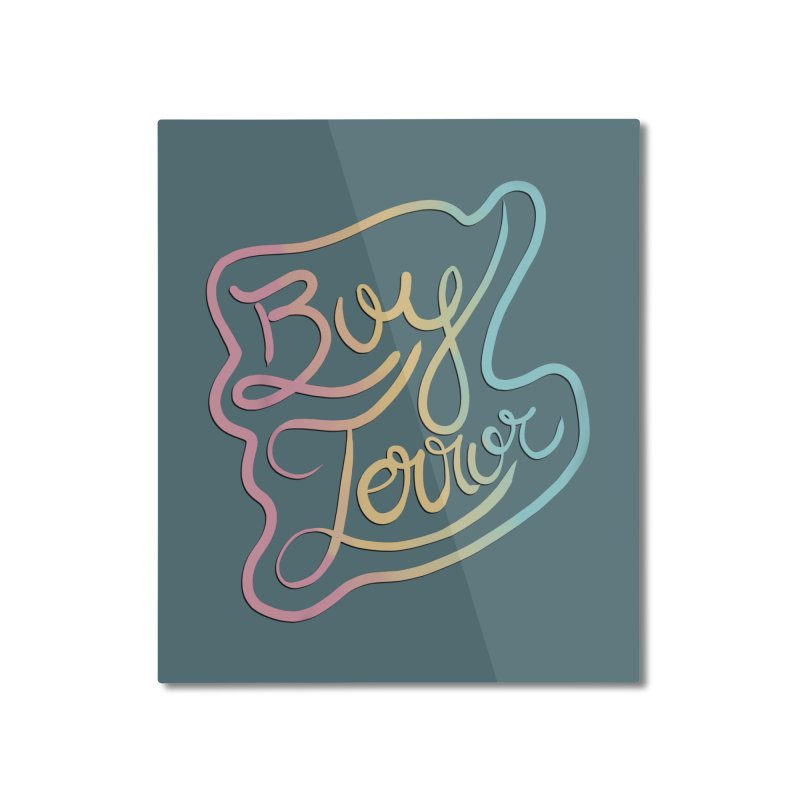 Boy Terror Home Mounted Aluminum Print by Hello Siyi