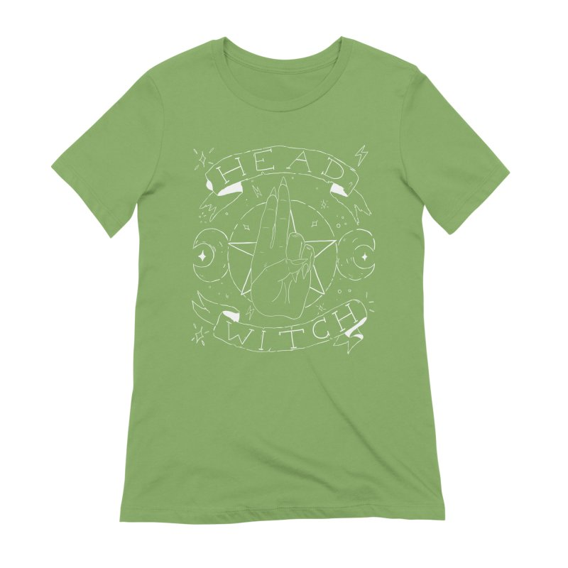 Head Witch (white) Women's Extra Soft T-Shirt by Hello Siyi