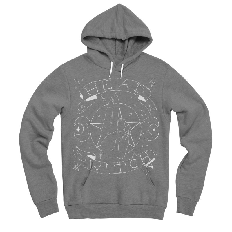 Head Witch (white) Men's Sponge Fleece Pullover Hoody by Hello Siyi