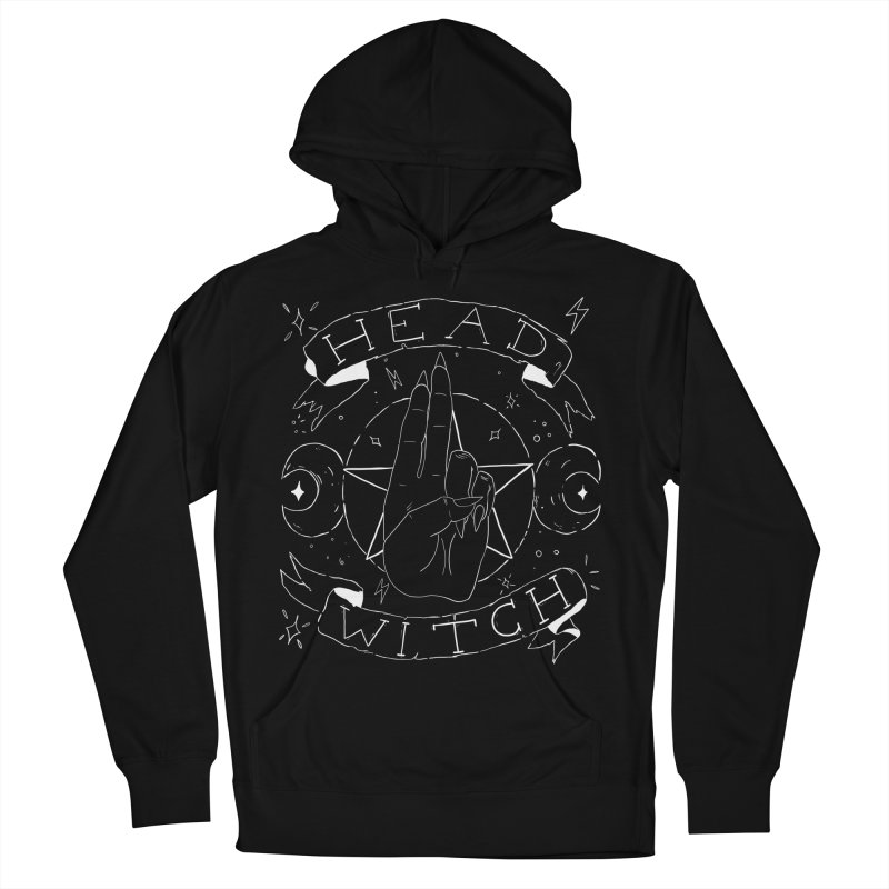 Head Witch (white) Men's French Terry Pullover Hoody by Hello Siyi