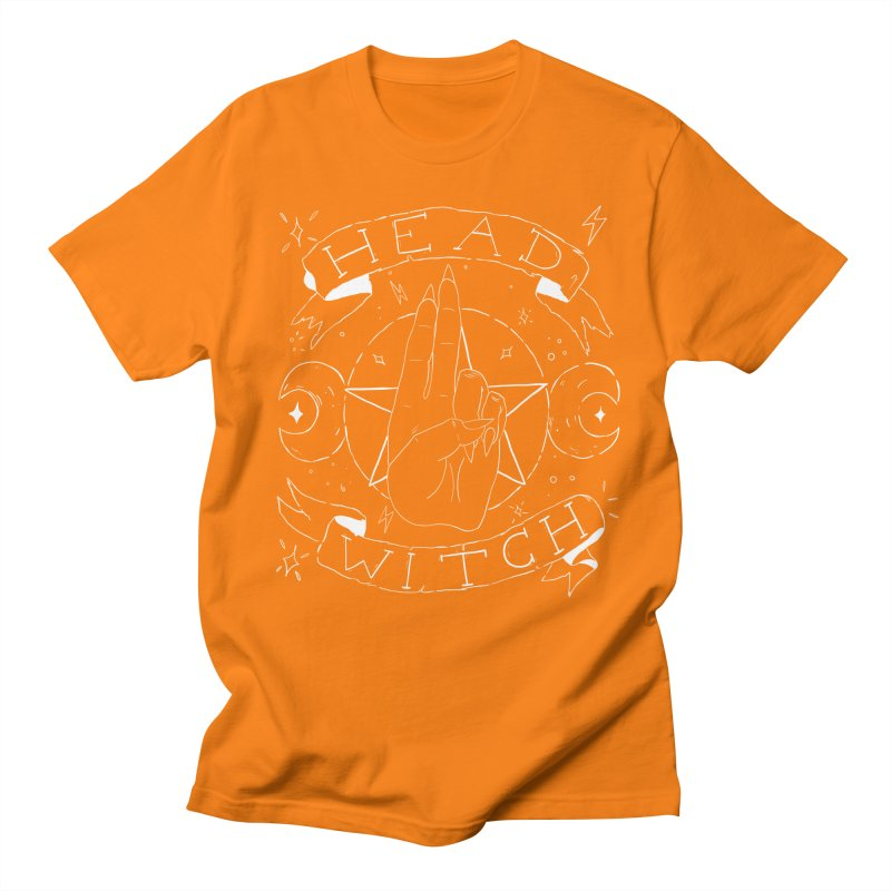 Head Witch (white) Men's Regular T-Shirt by Hello Siyi