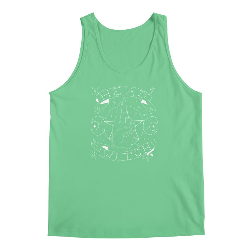 Head Witch (white) Men's Regular Tank by Hello Siyi