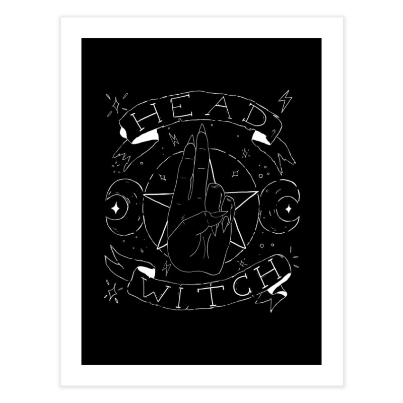 Head Witch (white) Home Fine Art Print by Hello Siyi