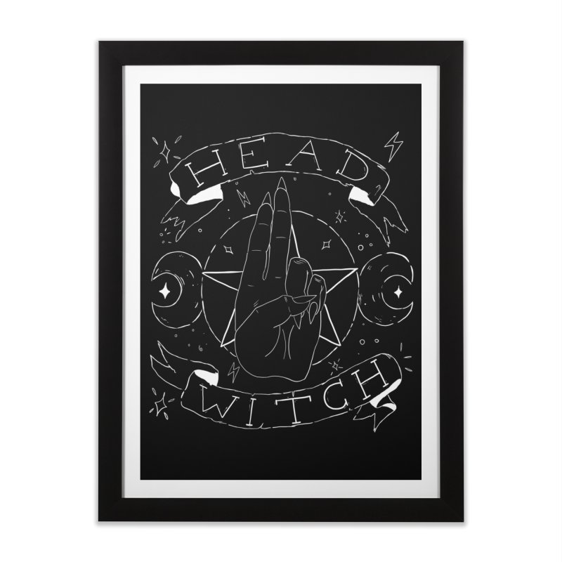 Head Witch (white) Home Framed Fine Art Print by Hello Siyi