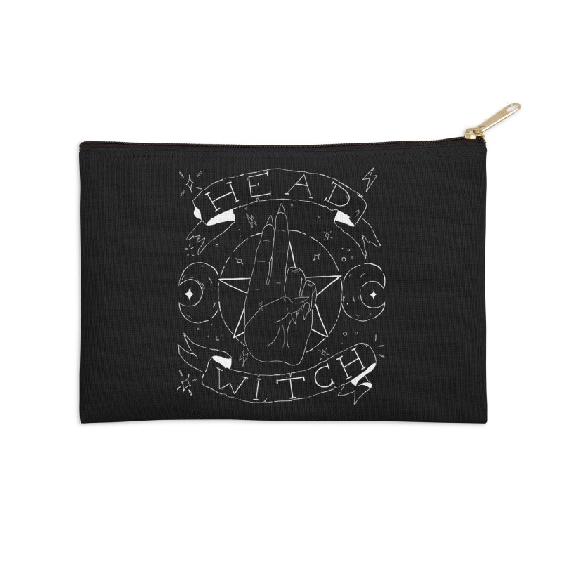 Head Witch (white) Accessories Zip Pouch by Hello Siyi