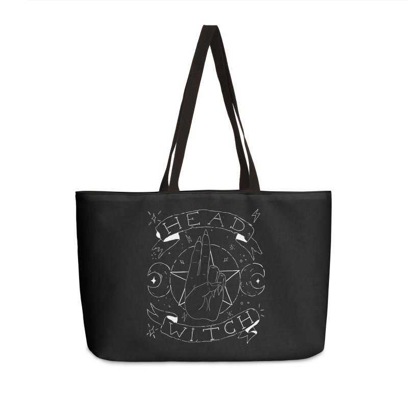 Head Witch (white) Accessories Weekender Bag Bag by Hello Siyi