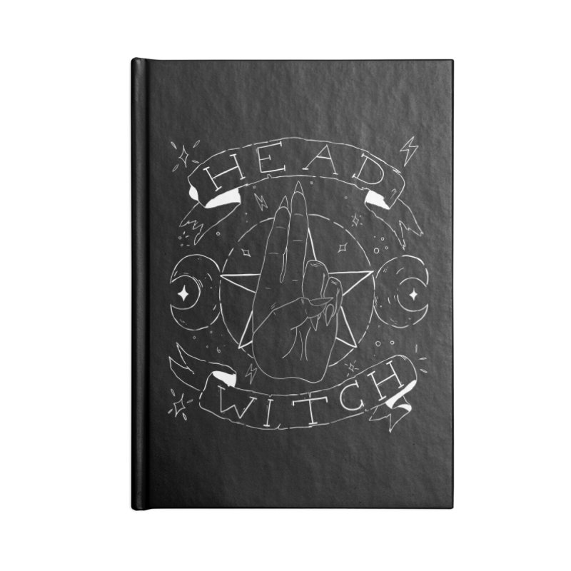 Head Witch (white) Accessories Lined Journal Notebook by Hello Siyi