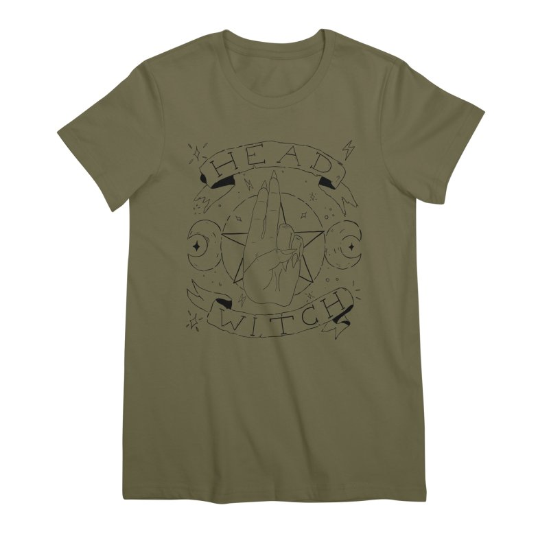 Head Witch Women's Premium T-Shirt by Hello Siyi