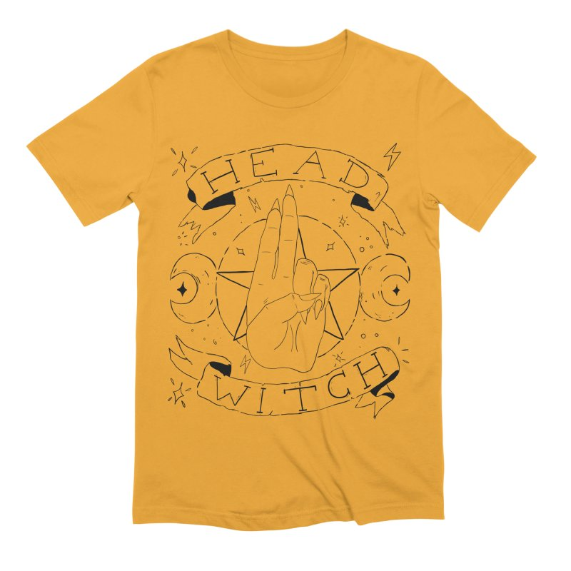 Head Witch Men's Extra Soft T-Shirt by Hello Siyi