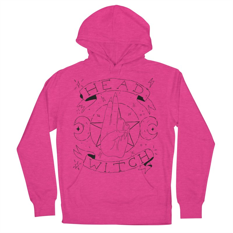 Head Witch Men's French Terry Pullover Hoody by Hello Siyi