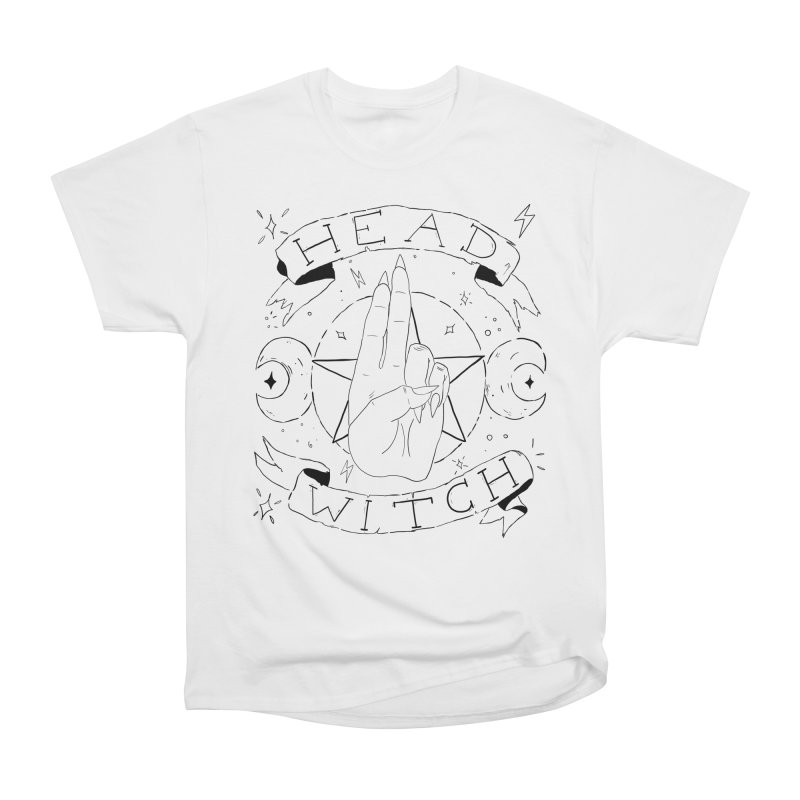 Head Witch Men's Heavyweight T-Shirt by Hello Siyi