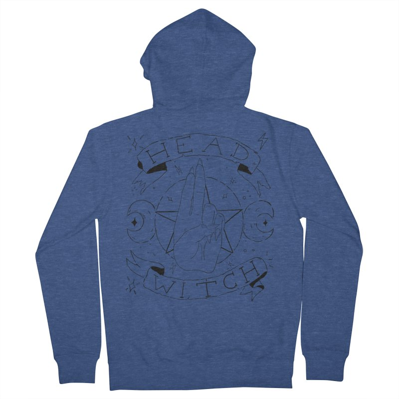 Head Witch Men's French Terry Zip-Up Hoody by Hello Siyi