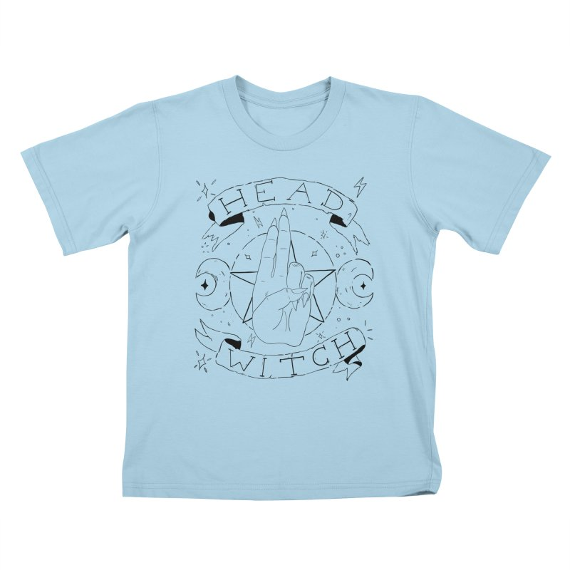 Head Witch Kids T-Shirt by Hello Siyi