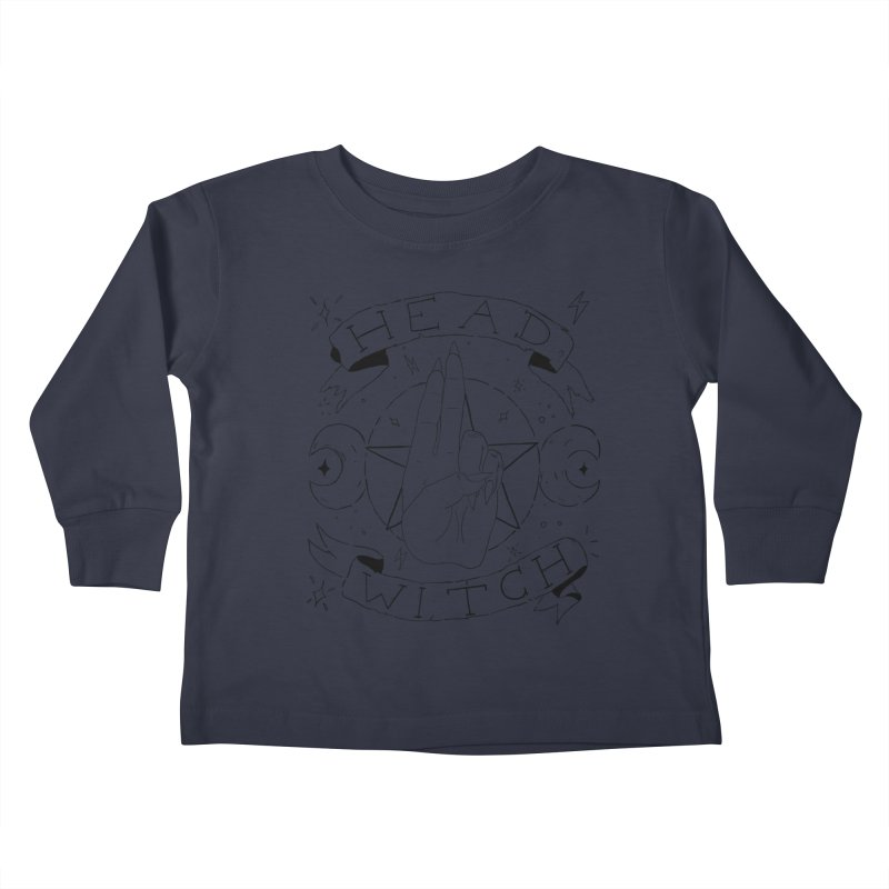 Head Witch Kids Toddler Longsleeve T-Shirt by Hello Siyi