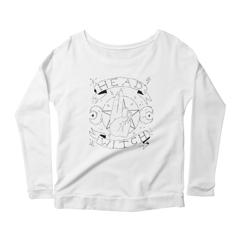 Head Witch Women's Scoop Neck Longsleeve T-Shirt by Hello Siyi