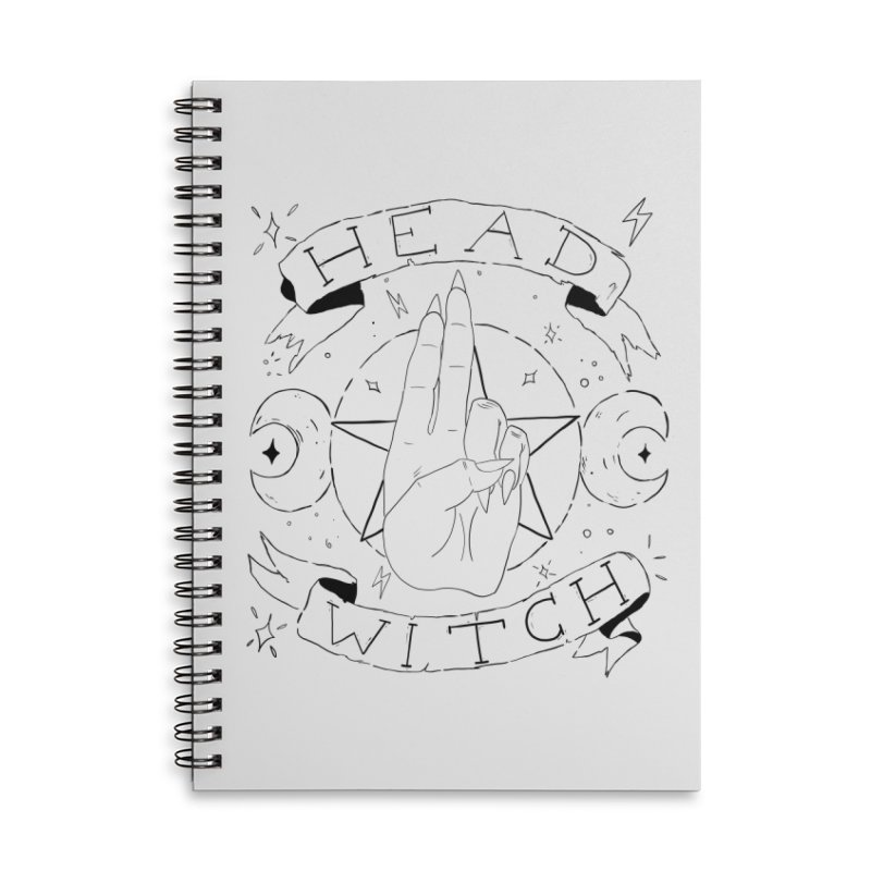 Head Witch Accessories Lined Spiral Notebook by Hello Siyi