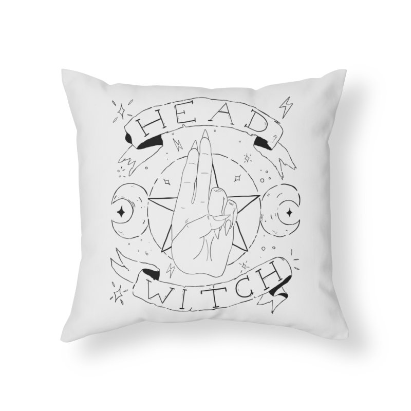 Head Witch Home Throw Pillow by Hello Siyi