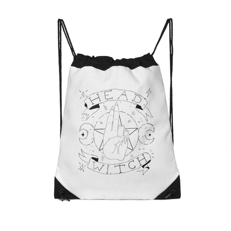 Head Witch Accessories Drawstring Bag Bag by Hello Siyi