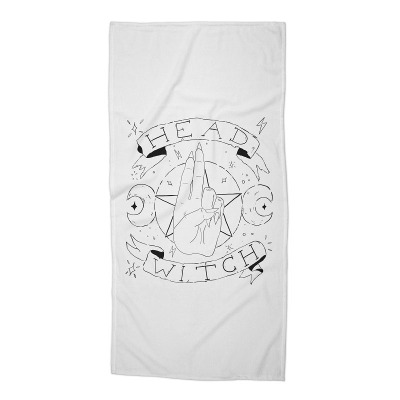 Head Witch Accessories Beach Towel by Hello Siyi