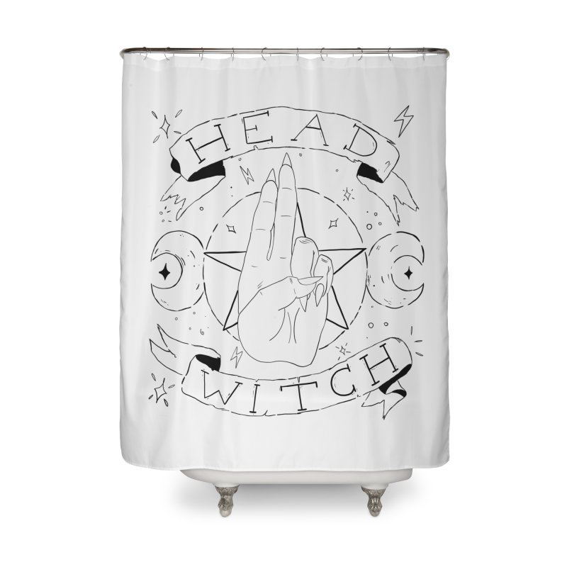 Head Witch Home Shower Curtain by Hello Siyi