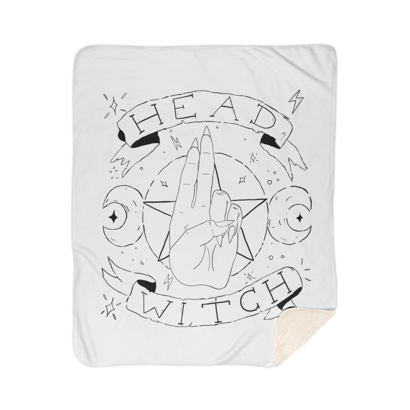 Head Witch Home Sherpa Blanket Blanket by Hello Siyi