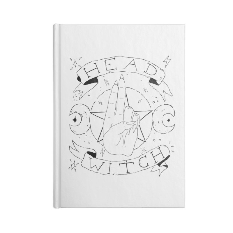 Head Witch Accessories Lined Journal Notebook by Hello Siyi