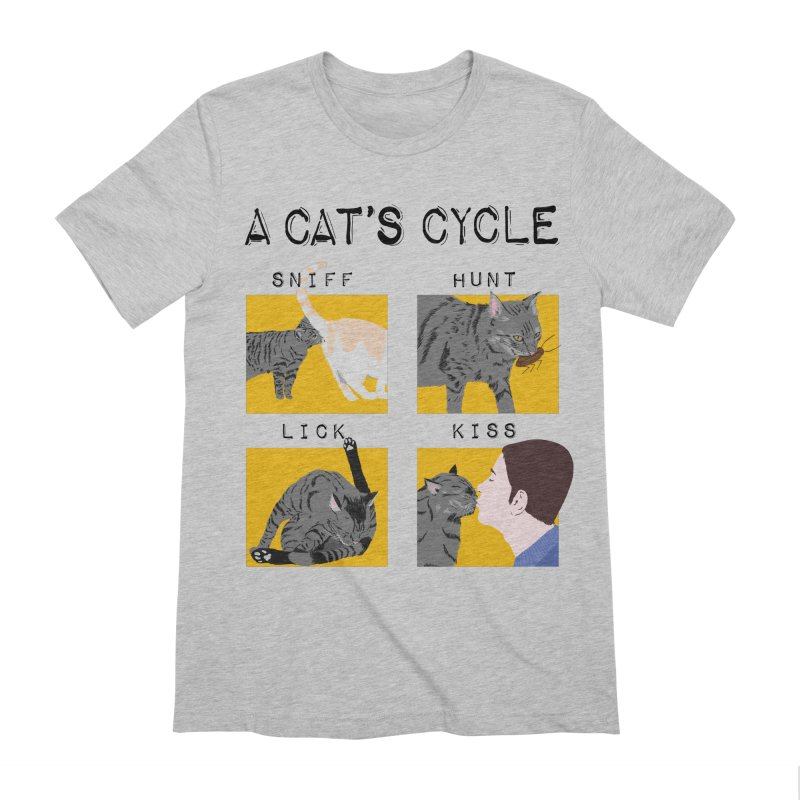 A cat's cycle Men's Extra Soft T-Shirt by Hello Siyi