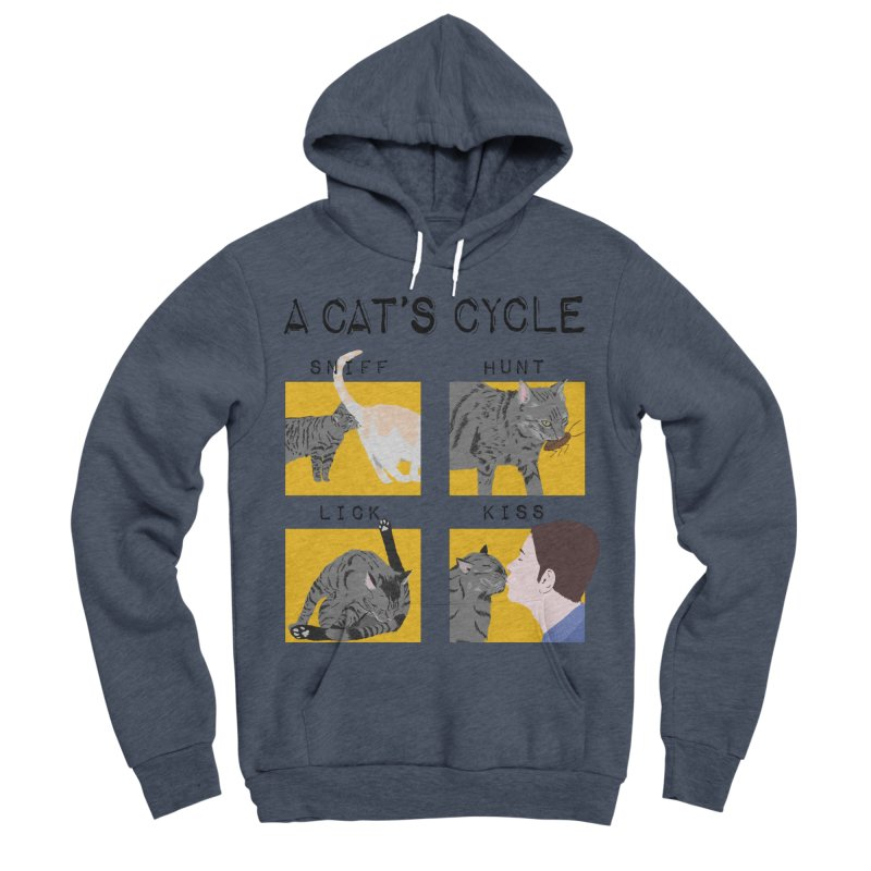 A cat's cycle Men's Sponge Fleece Pullover Hoody by Hello Siyi