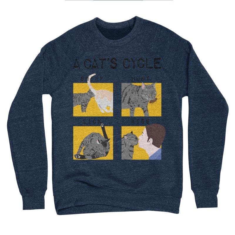 A cat's cycle Women's Sponge Fleece Sweatshirt by Hello Siyi