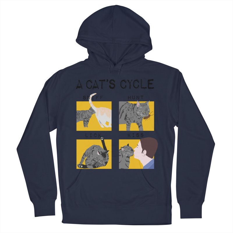 A cat's cycle Men's French Terry Pullover Hoody by Hello Siyi