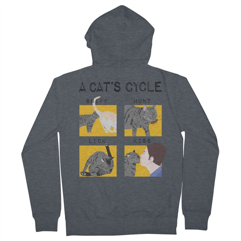 A cat's cycle Women's French Terry Zip-Up Hoody by Hello Siyi