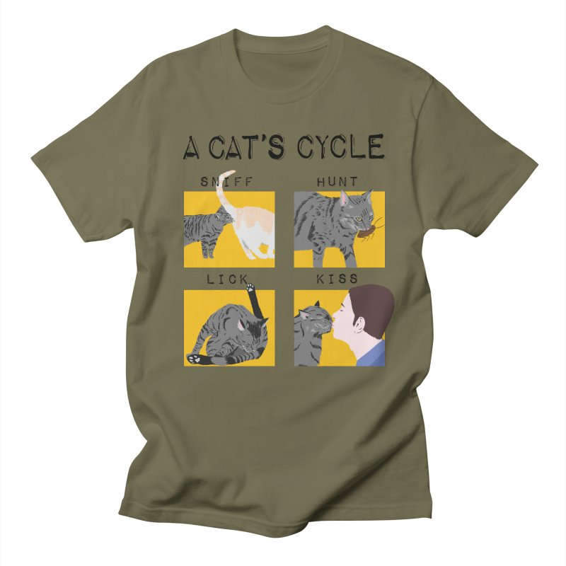 A cat's cycle Men's Regular T-Shirt by Hello Siyi