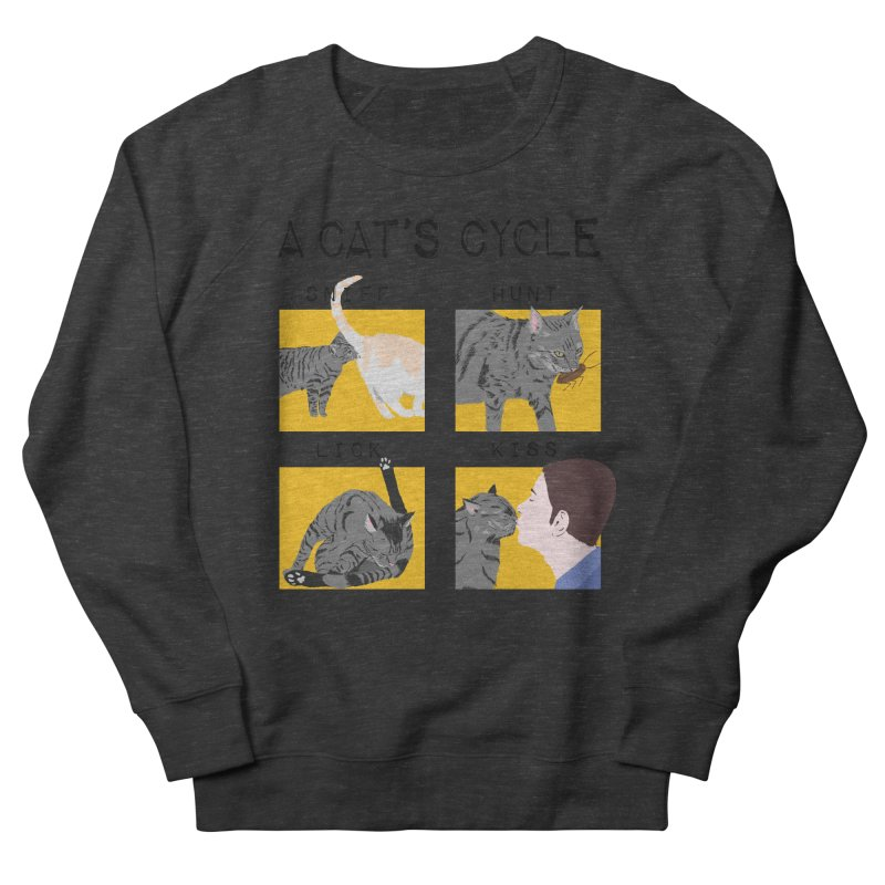 A cat's cycle Men's French Terry Sweatshirt by Hello Siyi