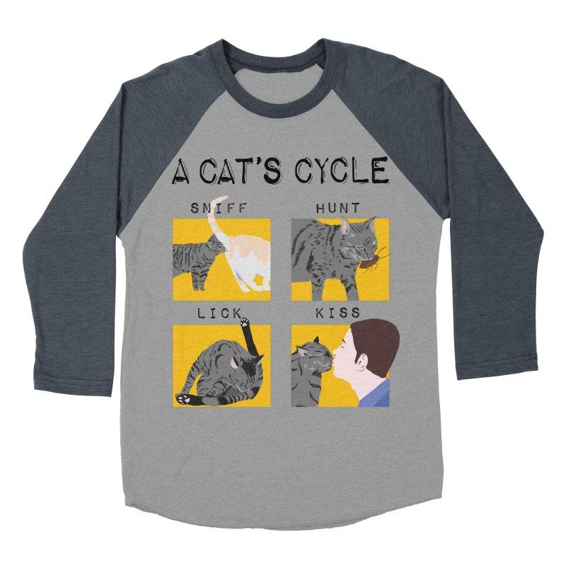A cat's cycle Women's Baseball Triblend Longsleeve T-Shirt by Hello Siyi