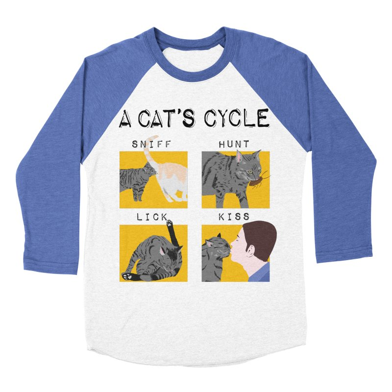 A cat's cycle Men's Baseball Triblend Longsleeve T-Shirt by Hello Siyi