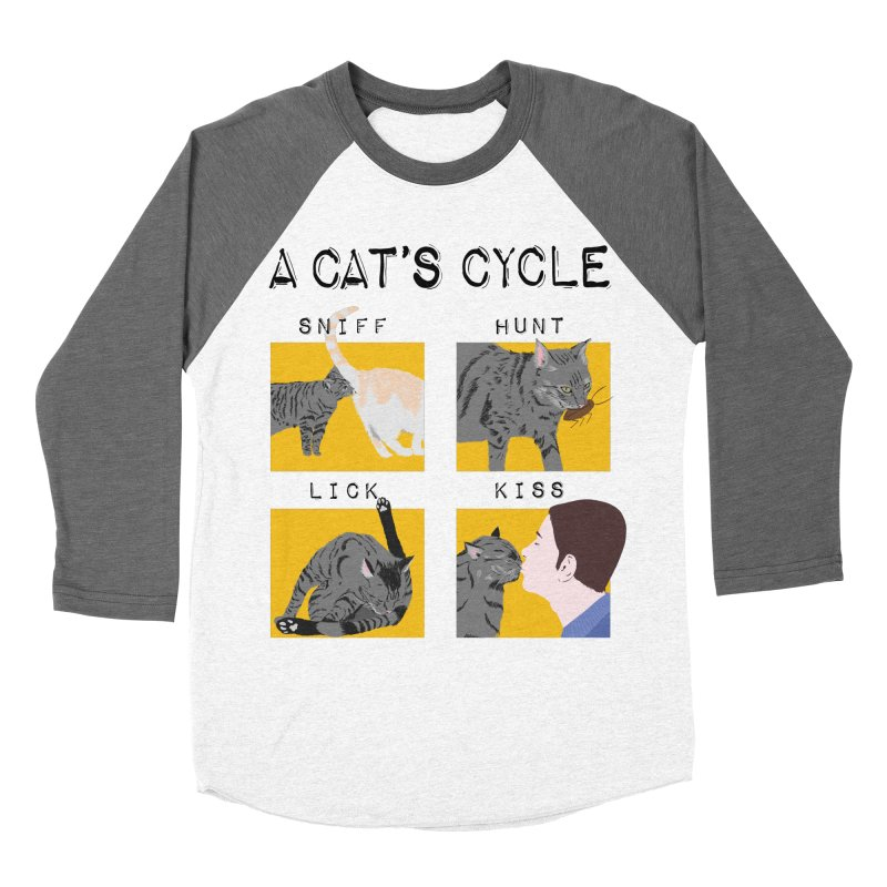 A cat's cycle Men's Baseball Triblend Longsleeve T-Shirt by Hello Siyi