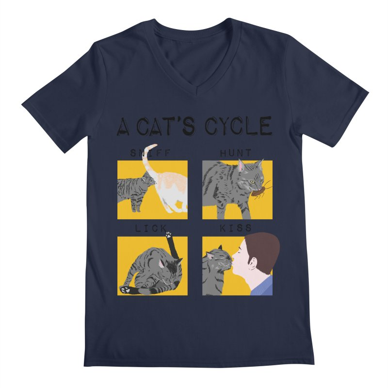 A cat's cycle Men's Regular V-Neck by Hello Siyi