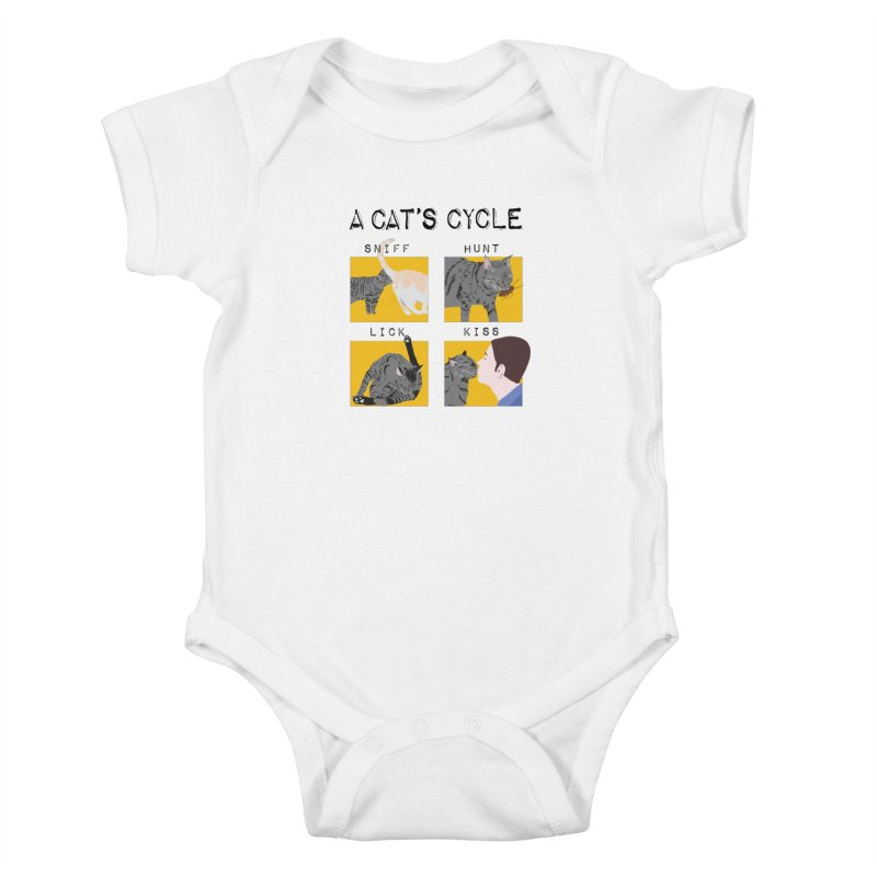 A cat's cycle Kids Baby Bodysuit by Hello Siyi
