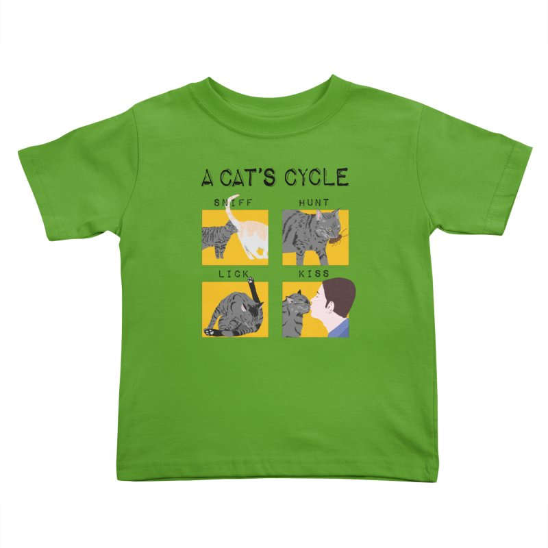 A cat's cycle Kids Toddler T-Shirt by Hello Siyi